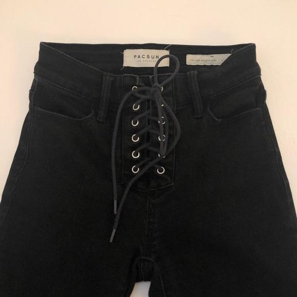PacSun Denim - PacSun High Rise lace up pants